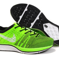 NFT005 - Nike Flyknit Trainer (Lime Green/Black)