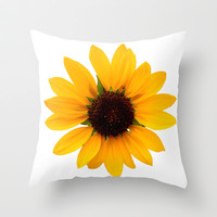 Sunflower Throw Pillow by Khana's Web