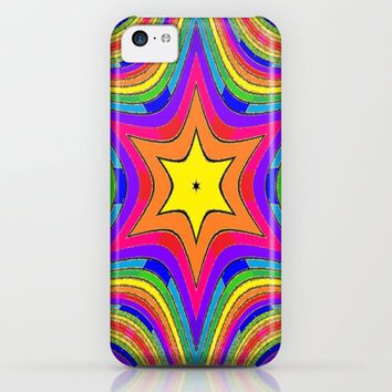 Sparkling Happy Rainbow Striped Stars 6 Point Star iPhone & iPod Case by 2sweet4words Designs | Society6