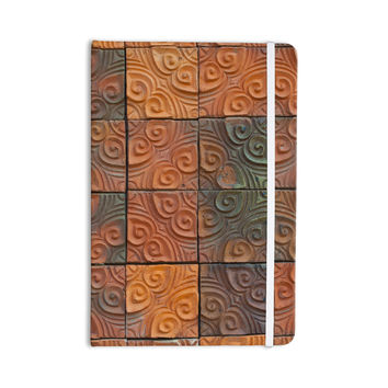 "Susan Sanders ""Whimsy Tile"" Orange Rustic Everything Notebook"