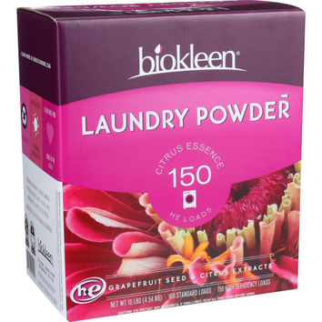 Biokleen Laundry Powder - Citrus Essence - 10 lb