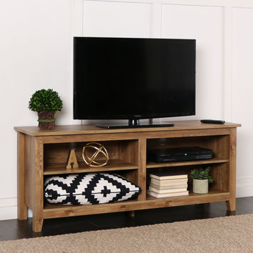 """58"""" Barnwood Wood TV Stand Console"""