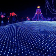 100 LED String Blue Light Net Mesh Decorative Fairy Lights Twinkle Lighting for Christmas Wedding Party 220V EU Plug TK1119|27701 (Color: Blue)