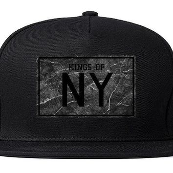 DCK4S2 Kings Of NY Granite Logo Crackle Print Snapback Hat