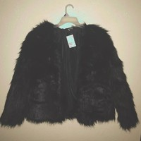 Hello! This black faux fur coat from H&M will be ...