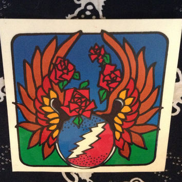 Grateful Dead Vintage 13 Point Bolt Scarab Window Decal / Sticker