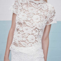 "Alexis 'Isaac White Lace"" Top 