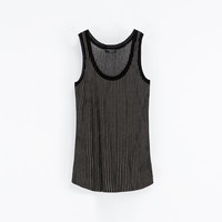 STRIPED TANK TOP - T - shirts - Woman | ZARA United States