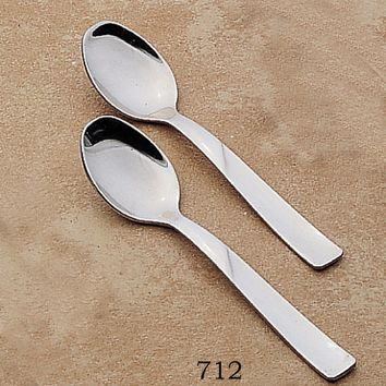 Demitasse Spoons Stainless Steel and Stainless Steel with Gold Inlay Set of 12
