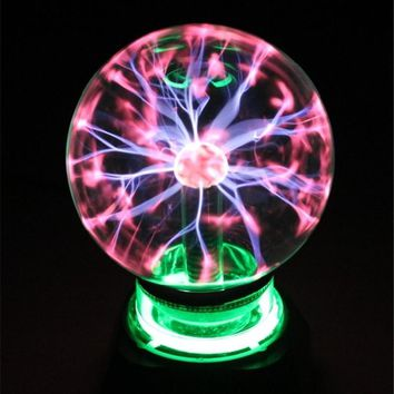 "Plasma Ball Sphere Light Magic Crystal And holiday Lamp 4 5 6 8"" inch Magic PLASMA BALL RETRO LIGHT kids room decor Gift Box"