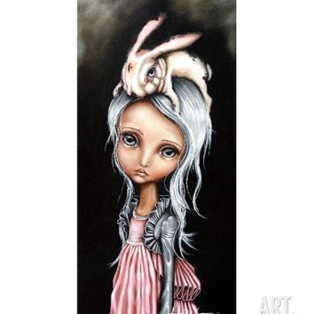 Bunny Couture Art Print by Angelina Wrona at Art.com