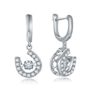 Women's Sterling Silver Shoe Shaped Earrings