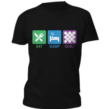 Eat Sleep Quilt - T-shirt & Hoddie eat-sleep-quilt-t-shirt