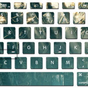 Green light bring happiness keyboard decal mac pro decals stickers sticker Apple laptop vinyl 3M surprise gift for her him beautiful J-051