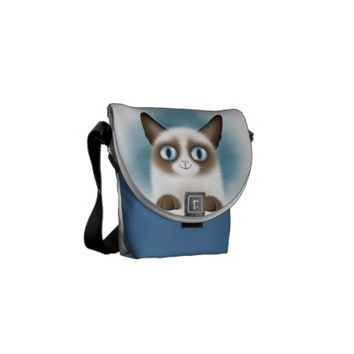 Curious Siamese Kitten Courier Bag