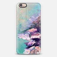 WINTER DREAMLAND 2 - Chic Pastel Turquoise Aqua Blue Purple Brown Maroon Coastal Ocean Waves Snowy Nature Abstract Painting Brushstrokes Splash Colorful Cool Modern Lovely Girly Design iPhone 6s case by Ebi Emporium | Casetify