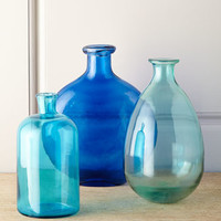 3-Piece Blue Bottle Set