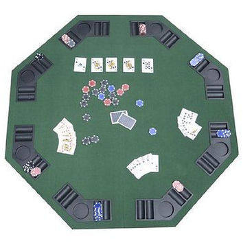 Deluxe Foldable Poker Blackjack Card Game Table Top Carrying Bag Cards Casino