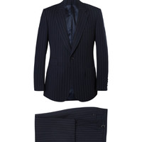 Kingsman - Navy Slim-Fit Single-Breasted Pinstriped Wool Suit | MR PORTER