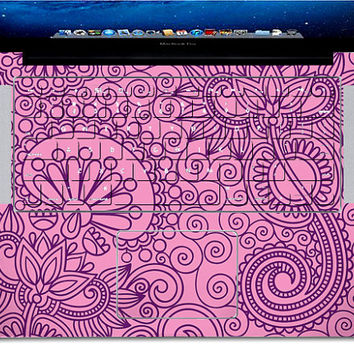 pink design cover  csurface Macbook Pro, Air or Ipad Stickers Macbook Decals Apple Decal for Macbook Pro / Macbook Air J-022