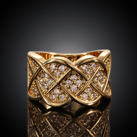 Lattice Gold Plated Ring