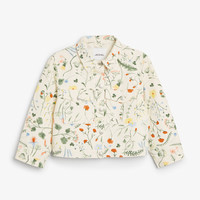 Monki | Jackets & coats | Cropped floral denim jacket