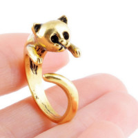 Fashion Cute Cat Pattern Opening Adjustable Ring