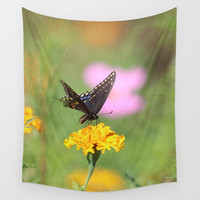 Swallow Tail Dream Wall Tapestry by Theresa Campbell D'August Art