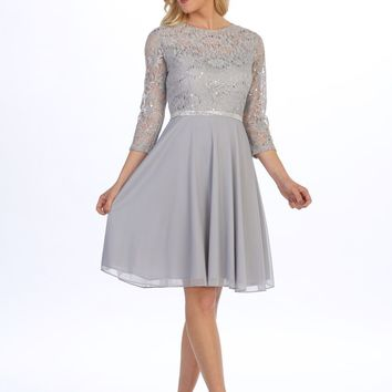 Short Sleeve Cocktail Dress Formal Wedding Guest