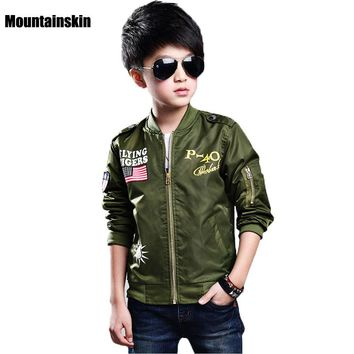 New Fashion Kids Jackets For Boys Bomber Coats Spring 3-13Y Children's Jackets Sports Outwear Brand Kids Clothes Windproof SC760