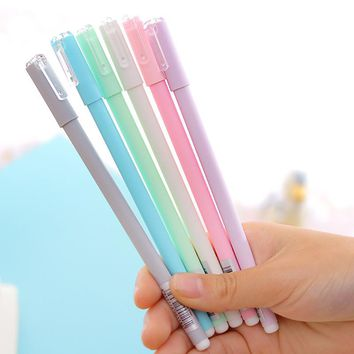 GREENHOW  Jelly gel ink pen Crystal love 0.5mm black lapices pens Canetas Stationery Office accessories school supplies