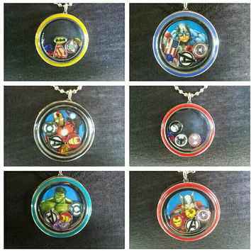 Superhero Floating Charm Lockets