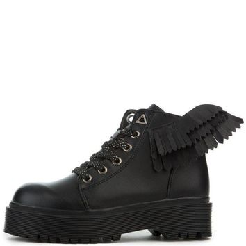 DCCKLP2 YRU Wings Slayr Angyl Women's Black Boots