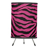 Hot Pink Zebra Animal Print Lamp Shade