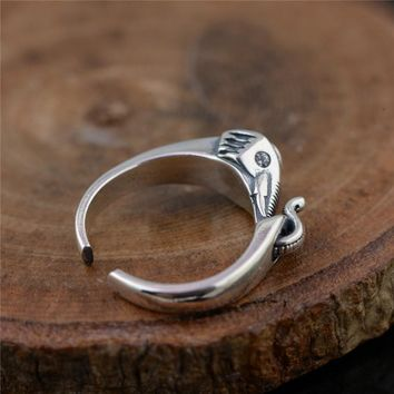 925 Silver Beautiful Elephant Ring