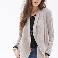 Heathered Shawl Collar Cardigan