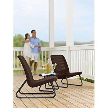 DCKL9 Outdoor Set Table Chairs Patio Furniture Garden Conversation Chair Table Set