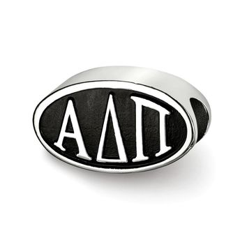 Sterling Silver Alpha Delta Pi Letters Bead Charm