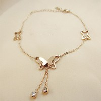 graceful butterfly titanium steel women s anklet.html
