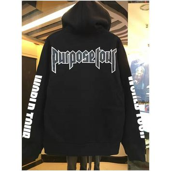 spbest Fashion Hip hop justin bieber purpose tour sweatshirt hoodies men women pullover sportswear hoodies brand clothing high quality