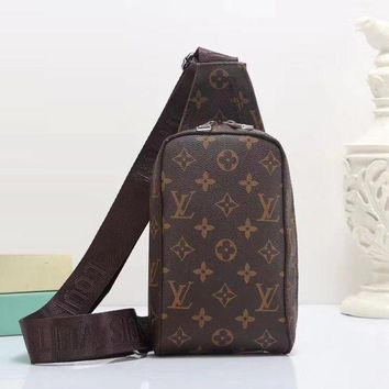 Louis Vuitton New Fashion Women Leather Backpack Satchel Crossbody
