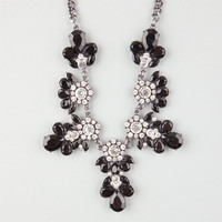 Full Tilt Rhinestone Statement Necklace Jet One Size For Women 24827710501