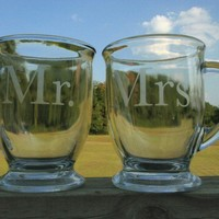 Mr and Mrs Coffee Mugs by WhitewashSundries on Etsy