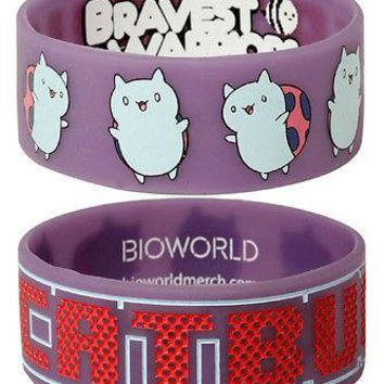 Cartoon Hangover Bravest Warriors Catbug Cosplay Rubber Bracelet Wristband Strap
