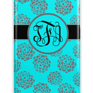 DISTRESSED GRUNGY FLORAL - PRETTY MONOGRAM IPHONE CASE FOR WOMEN