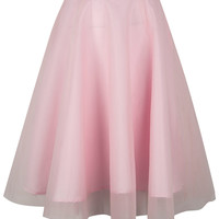 Light Pink Chiffon Midi Skirt