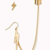 Lightning Bolt Earrings w/ Earcuff