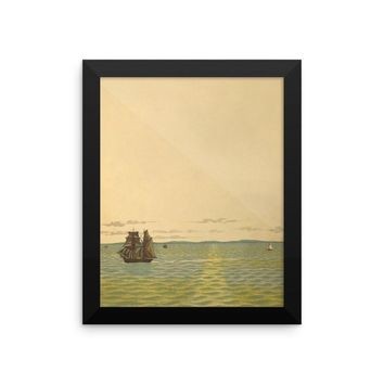 Out to Sea Vintage Art Poster
