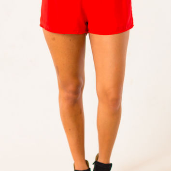 All In Shorts in Red