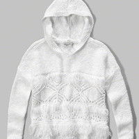 girls hooded open stitch sweater   girls clearance   Abercrombie.com